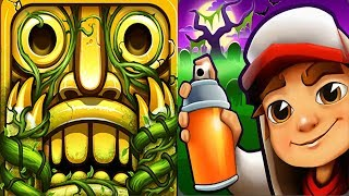 Temple Run 2 Sky Summit VS Subway Surfers New Orleans Android iPad iOS Gameplay HD