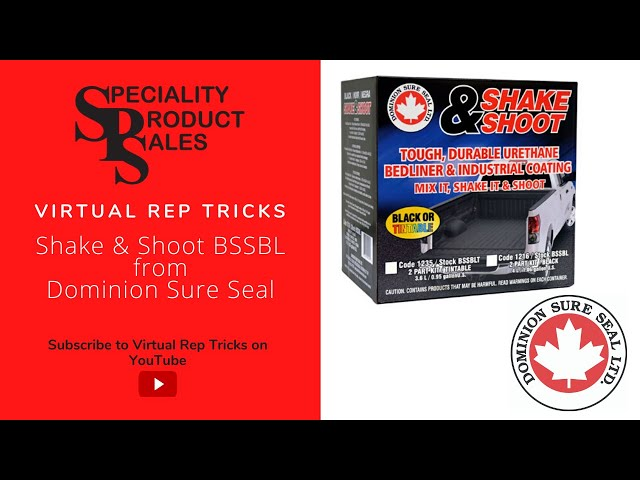 Rep Tricks - BSSBL Shake and Shoot Bedliner from Dominion Sure Seal