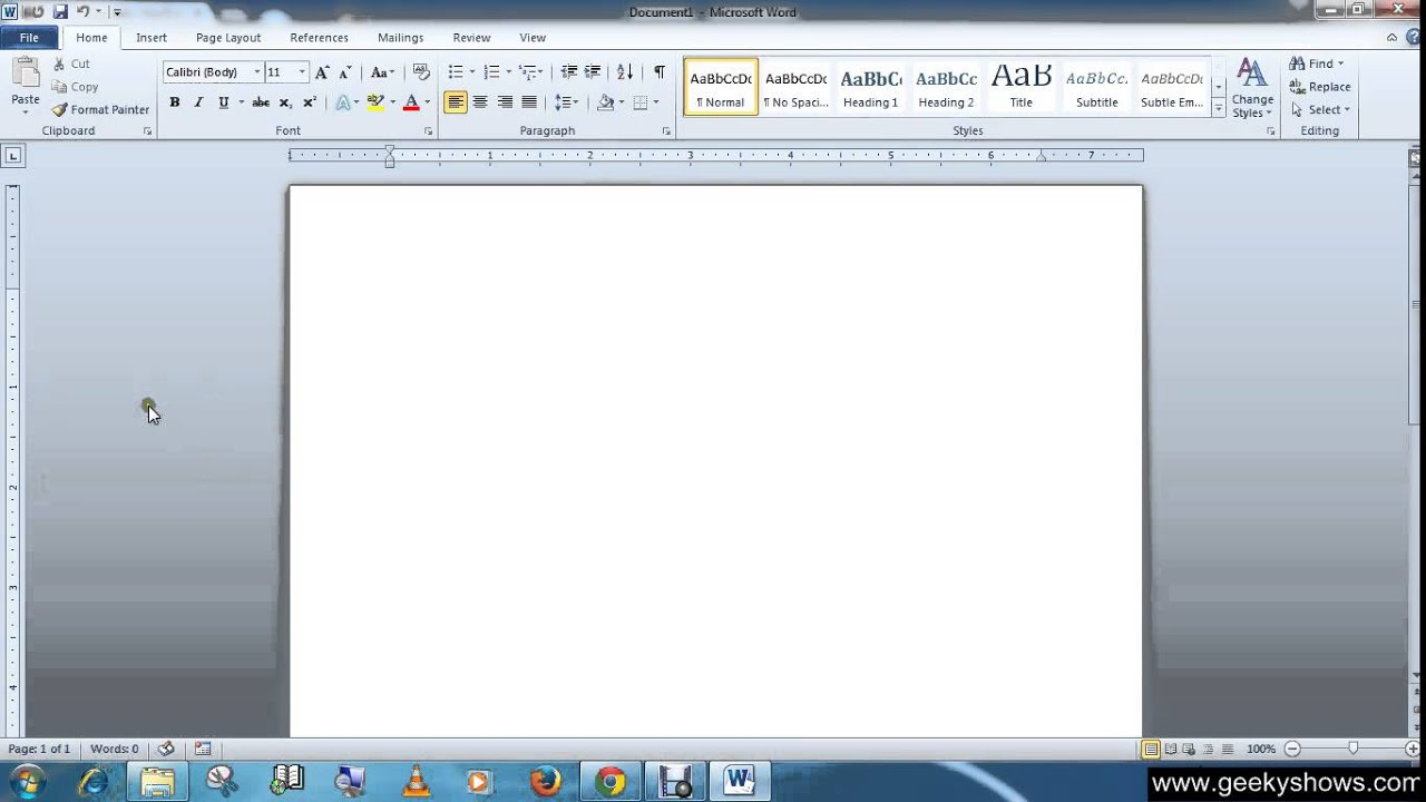 Microsoft Office Word 2010 Display or Hide the Ruler - YouTube