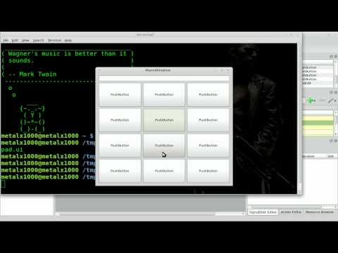 Create a GUI Number Pad in Qt4-designer - Python - Linux