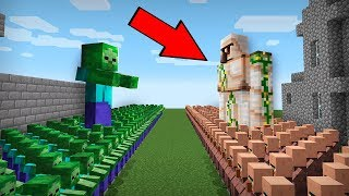 WHO WILL WIN THE BATTLE VILLAGER VS ZOMBIE IN MINECRAFT?