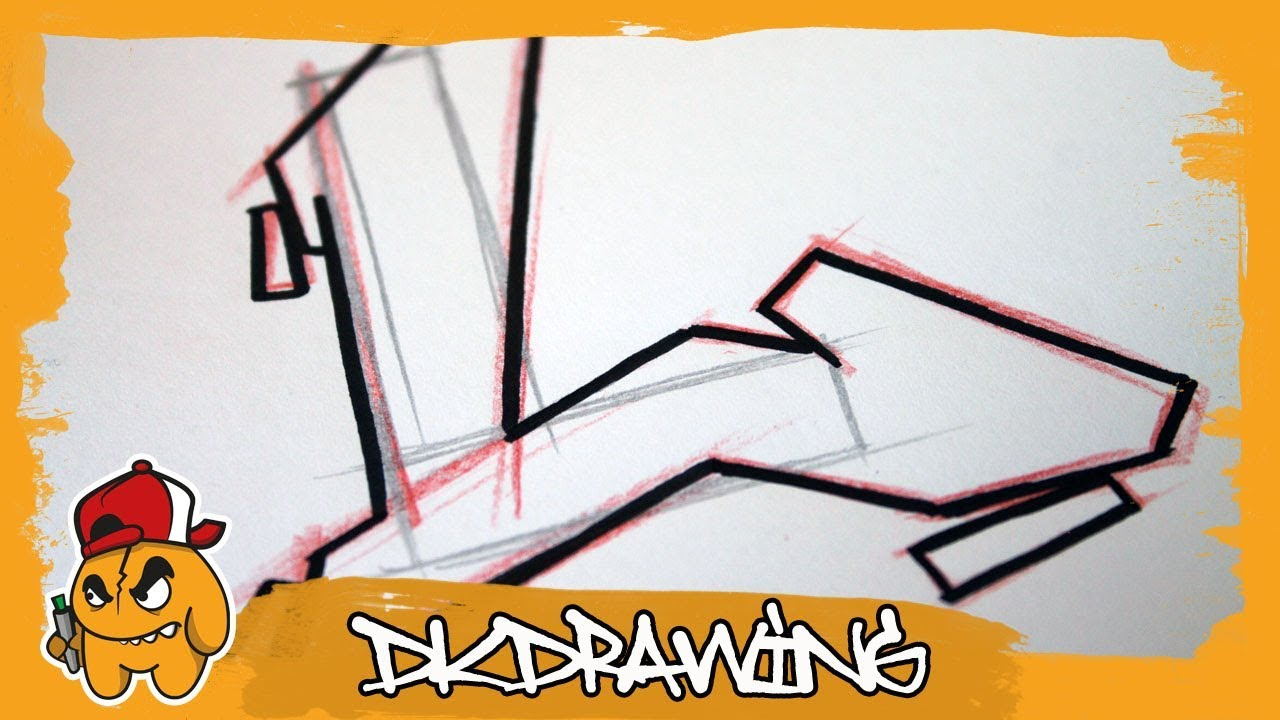 Graffiti tutorial for beginners how to draw flow your graffiti letters letter l