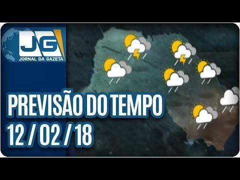 Previsão do Tempo - 12/02/2018