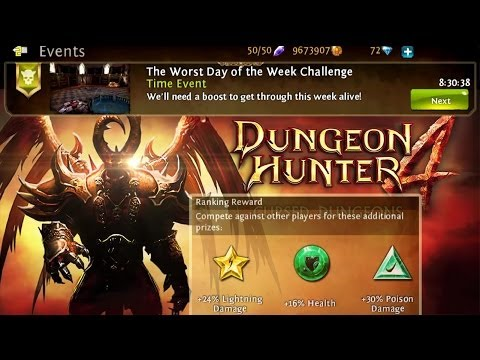 Worst Day Of The Week Challenge - Dungeon Hunter 4 - Hardest Difficulty
