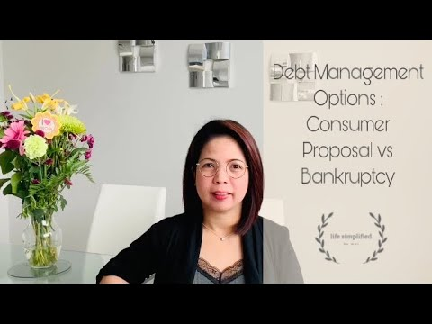 Debt Management Options | Consumer Proposal VS Bankruptcy | Avoid Foreclosure