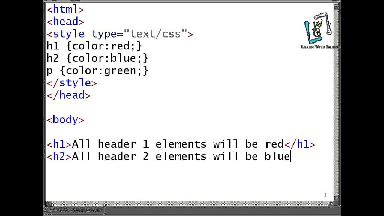22 How to use Style tag in the html - YouTube