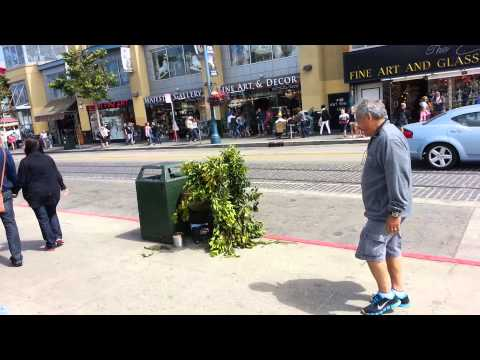 Bum Scares  People for Money In San Francisco