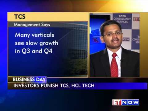 TCS tumbles in trade, management still positive on future outlook