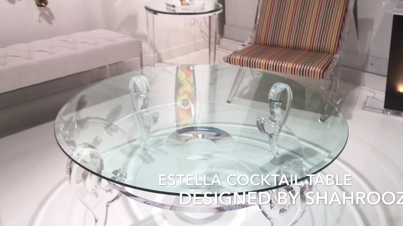 Estella Acrylic Cocktail Table By Shahrooz
