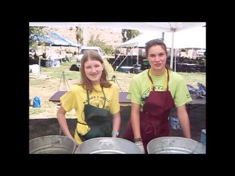 Teaching Kids At Camp To Cook In Dutch Ovens.