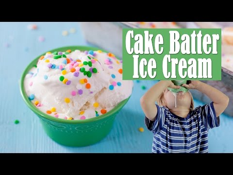 Cake Batter Ice Cream Recipe Your Kids Can Make