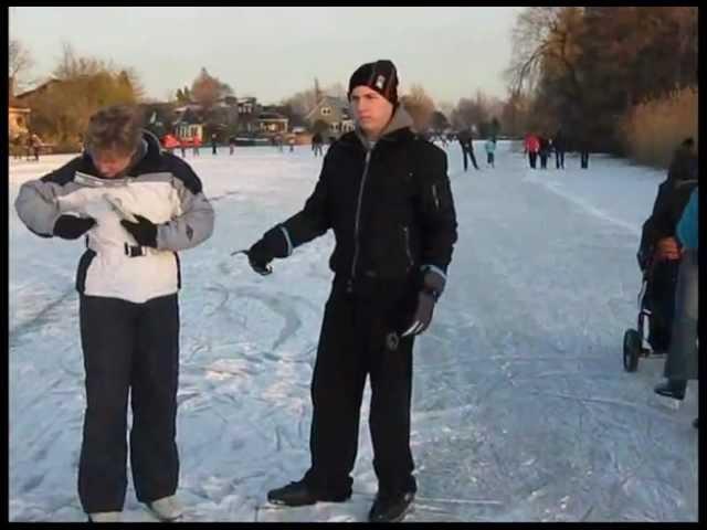 Leo op de schaats