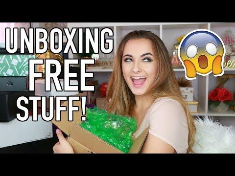 HUGE PR Unboxing   FREE Stuff Beauty Gurus Get + GIVEAWAY