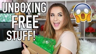 HUGE PR Unboxing | FREE Stuff Beauty Gurus Get + GIVEAWAY