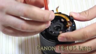 Canon 18 135 Lens Take Apart to Fix
