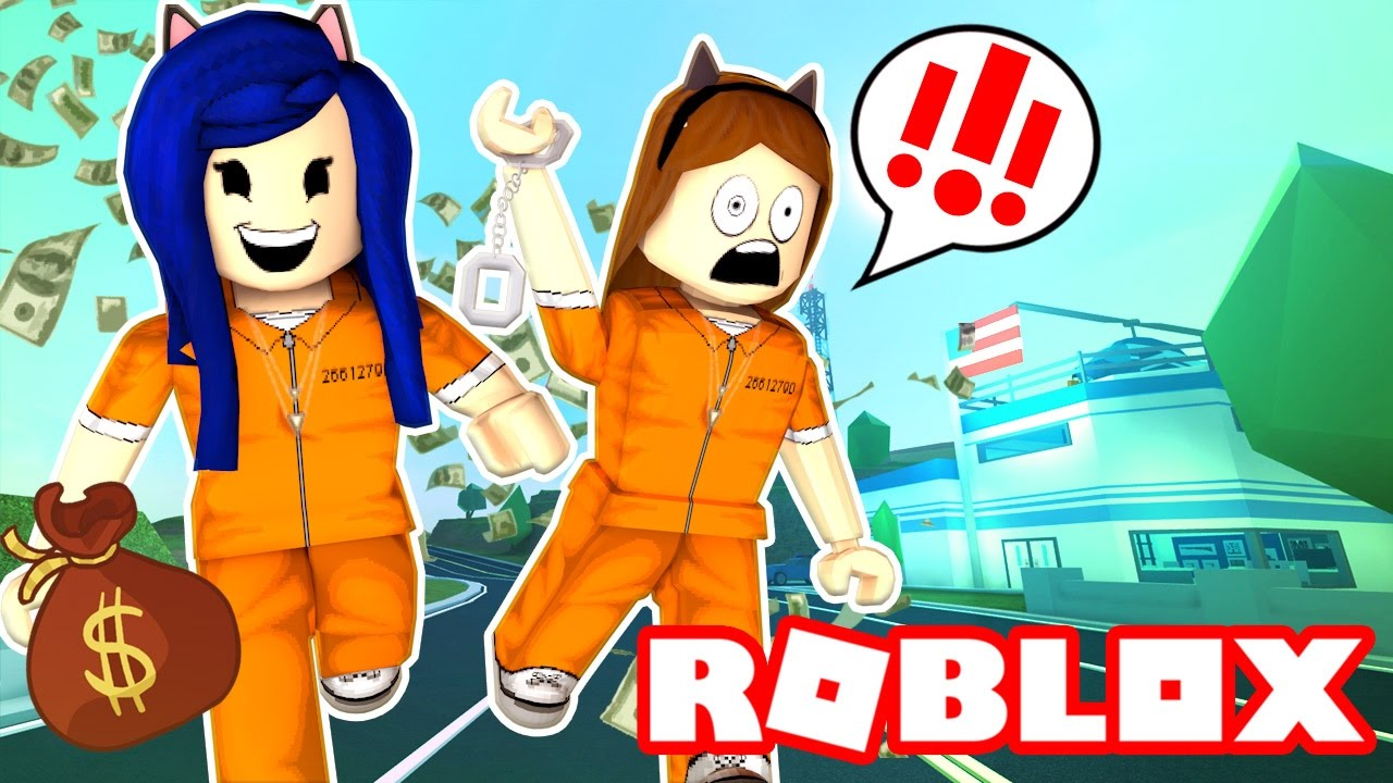 Breaking Out Of Jail In Roblox Roblox Jailbreak Youtube