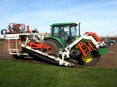 Trebro Harvistack Automatic Sod Harvester Cutting Sod