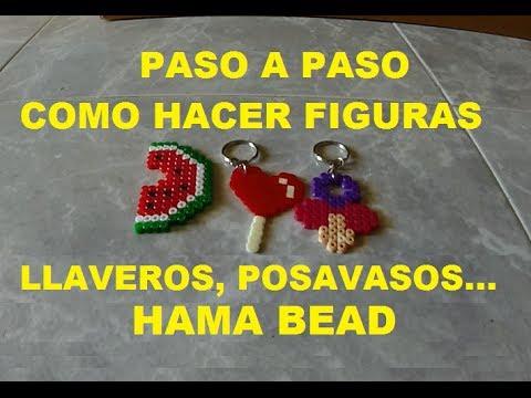 Como hacer llaveros posavasos con hama beads paso a paso - Como hacer posavasos ...