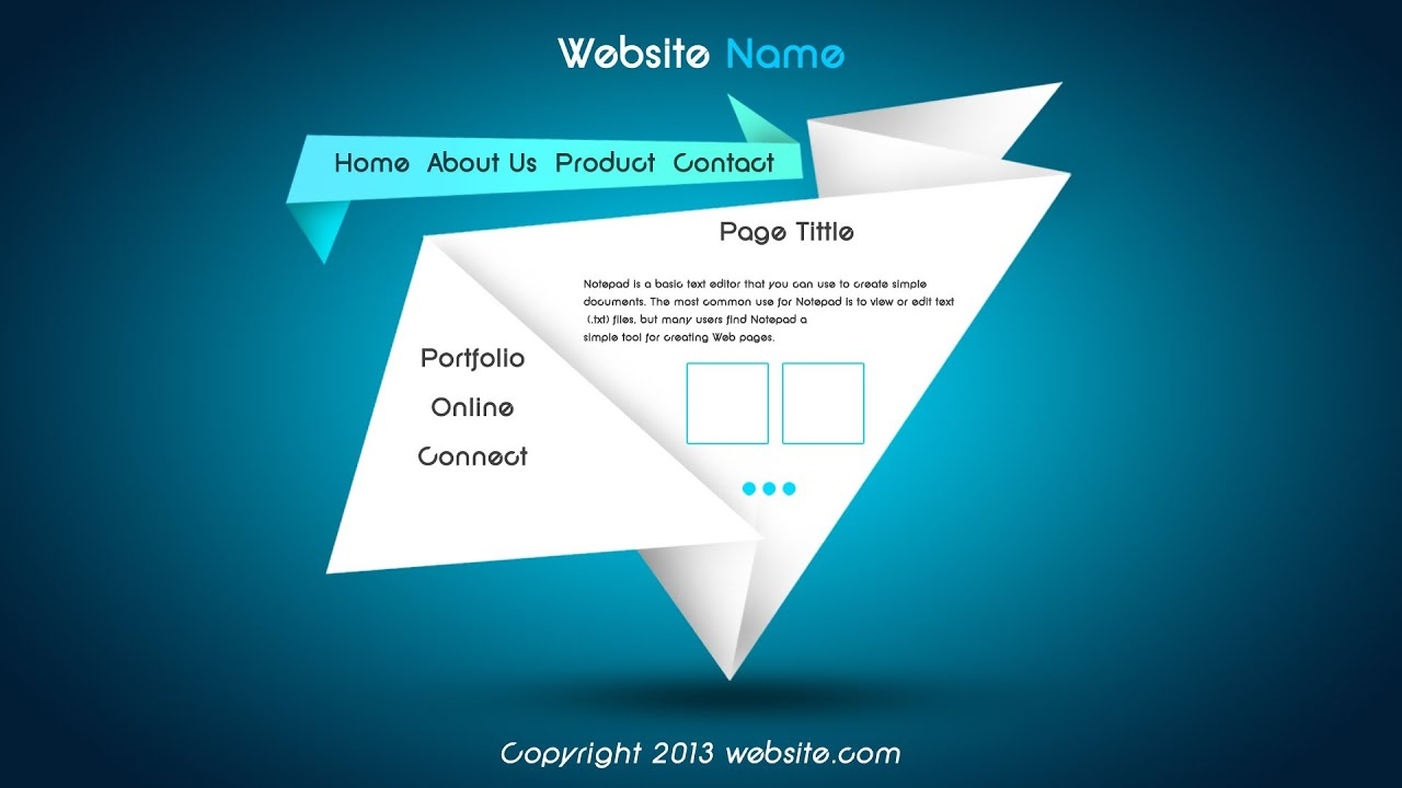 Website Design in Photoshop / Web Design Video Course (click3d ...