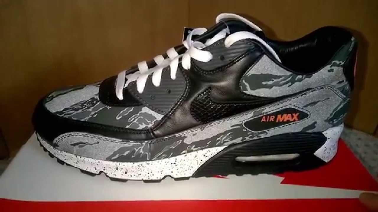 outlet store 97b37 cd62c Nike Air Max 90 Atmos Tiger Camo, 3M GITD