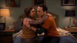Sheldon and Amy all the kisses