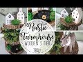DIY Rustic Farmhouse Decor   Wooden 3 Tier Tray   Decorate With Me   Budget Friendly