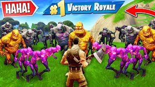 CREATING a ZOMBIE HORDE to win a game of Fortnite!