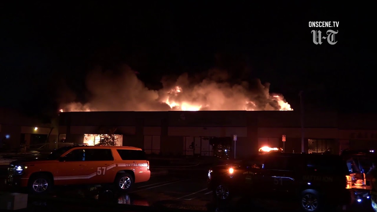 Wholesale toy business destroyed by 3-alarm fire in Chula Vista