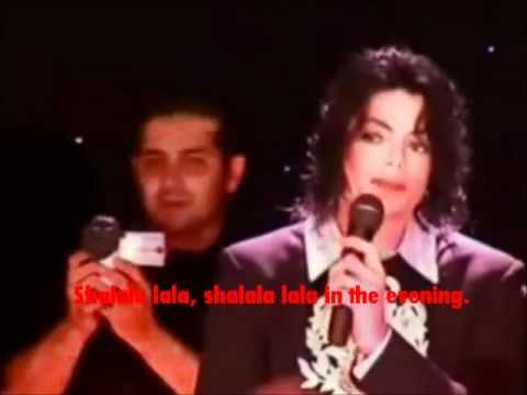 MICHAEL JACKSON my HEART goes shala lala..
