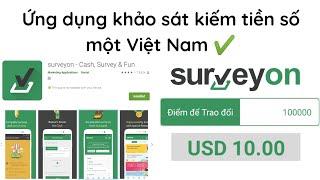 Surveyon   Ứng dụng khảo sát kiếm tiền Paypal online số một tại Việt Nam - YouTube