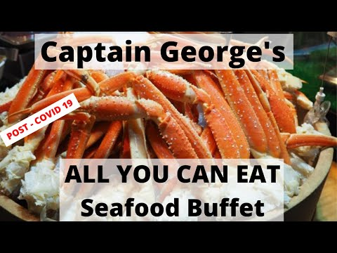CAPTAIN GEORGE'S SEAFOOD BUFFET MYRTLE BEACH REVIEW 🦀🦀 || ALL YOU CAN EAT CRAB LEGS || ULTRA 4K