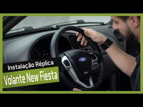 Instalação da Réplica do Volante do New Fiesta no Fiesta 2001 - DIY