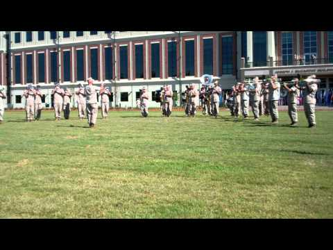 Marine Band New Orleans at Post, Relief and Retirement Ceremony, Part I