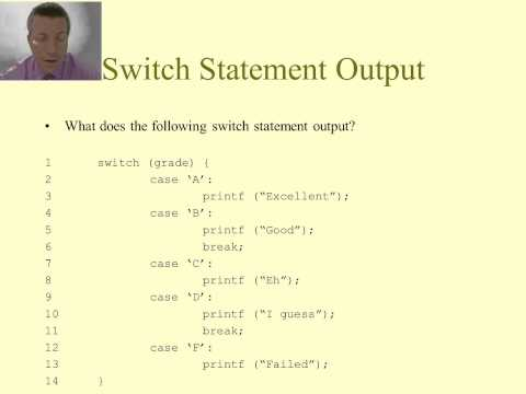 Intro to C Programming - Conditional Statements - switch