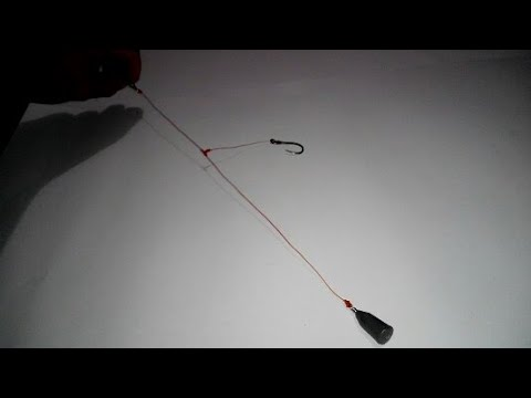 Membuat rangkaian 1 mata kail pancing DASARAN/GLOSOR | How to create 1 hook for BOTTOM fishing rig
