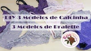 6 Modelos de Lingerie + Molde – Curso de Corte e Costura