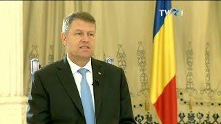 Interviu cu preşedintele Klaus Iohannis (@TVR1)