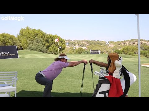 Best golf stretches with Miguel Angel Jimenez and The Golf Chica