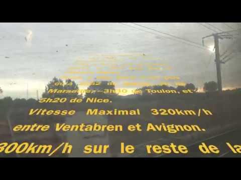 TGV de Marseille St Charles à Lyon Part Dieu