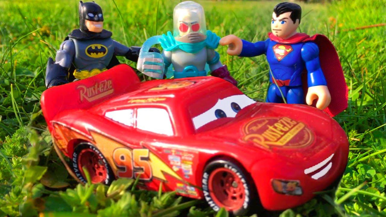 aeed7e911 Disney Cars Toy Lightning McQueen Cars Movie Imaginext Batman v Superman  Fight Mr Freeze Kids Movie