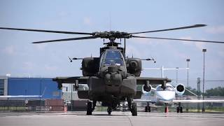 Engine Start US Army Apache Helicopter