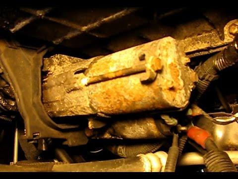 How to replace the starter on a \u002798-\u002705 GM 31L or 34L Malibu