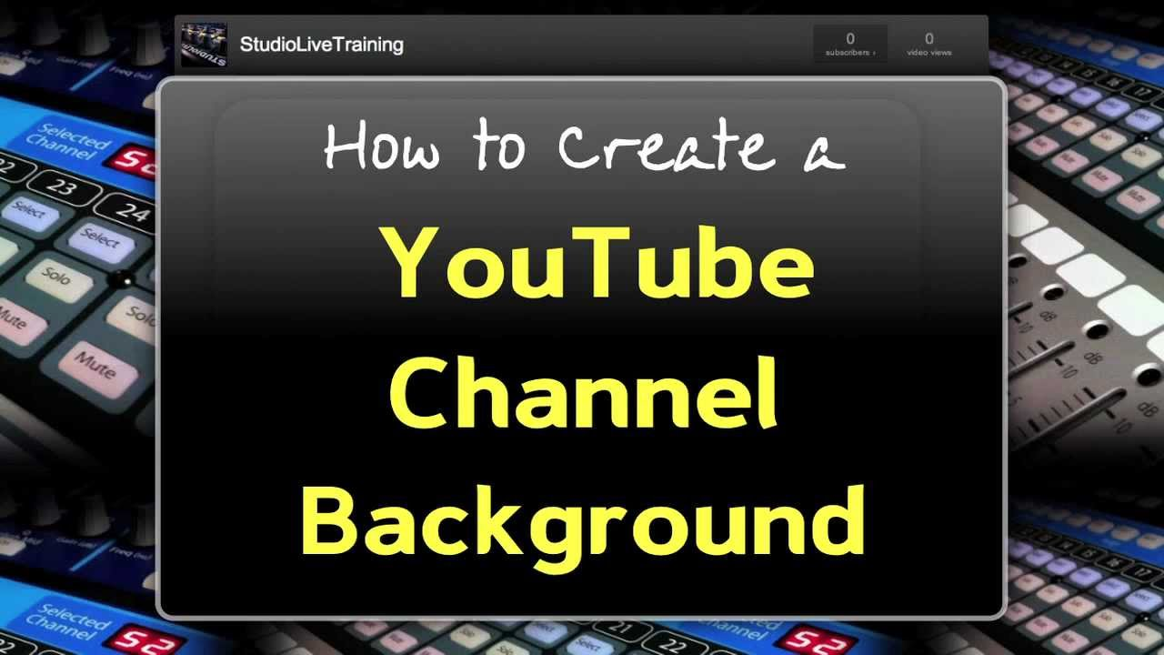 NEW 2012: Create a YouTube Channel Background - WITHOUT Photoshop ...