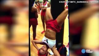 Watch NFL cheerleader show off her killer ab workout