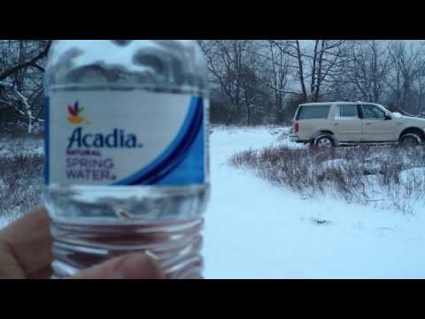 Water goes from liquid to solid, freezing Instantly!!!