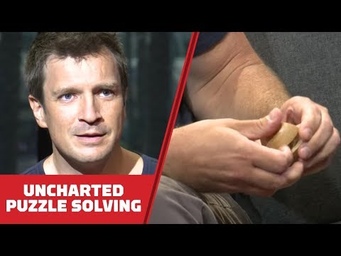 Nathan Fillion Solves Wood Puzzles While Telling Us Why He Loves Uncharted - Comic Con 2018