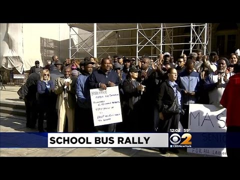 Veteran NYC Bus Drivers, Matrons Rally At City Hall