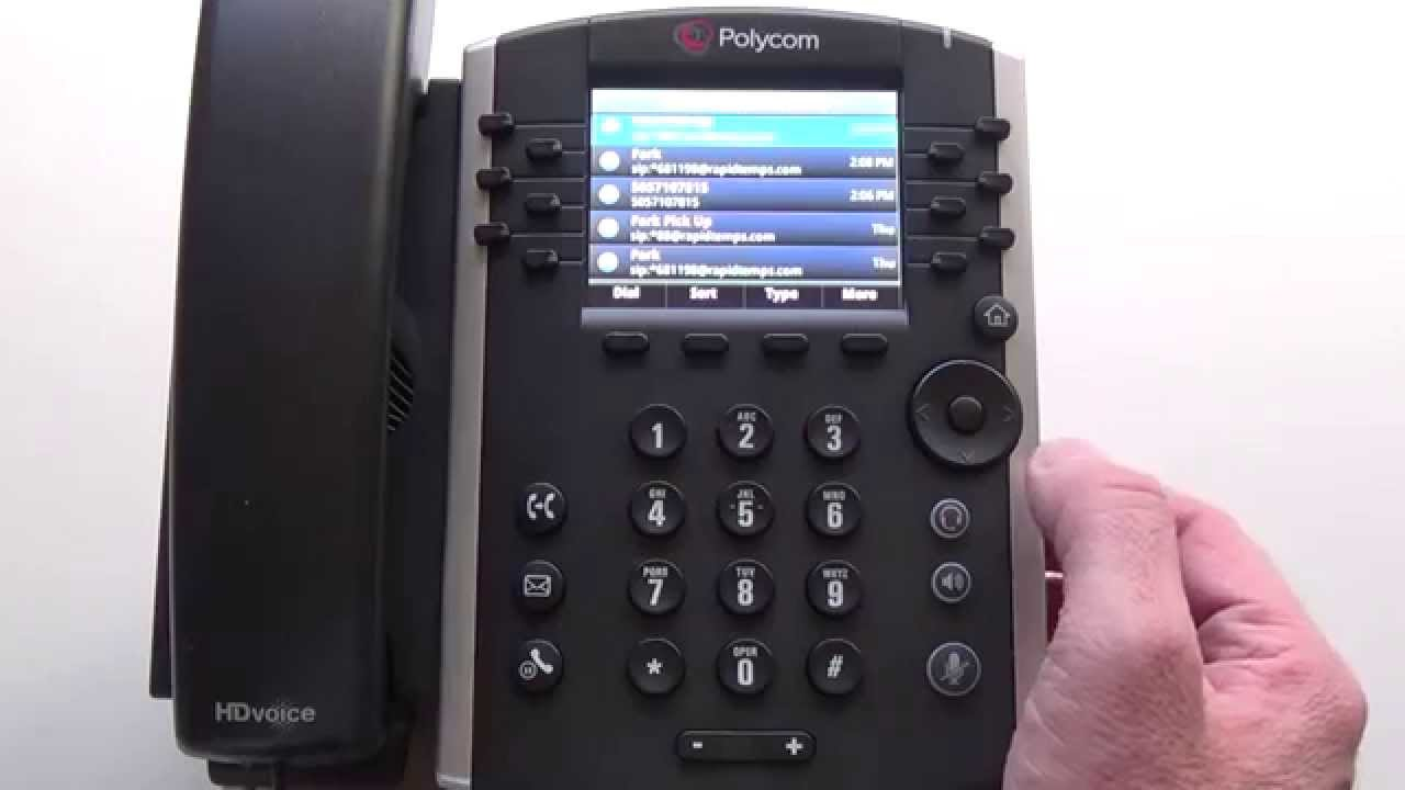 FIRST CONTACT COMMUNICATIONS POLYCOM VVX 400 CALLER ID - YouTube