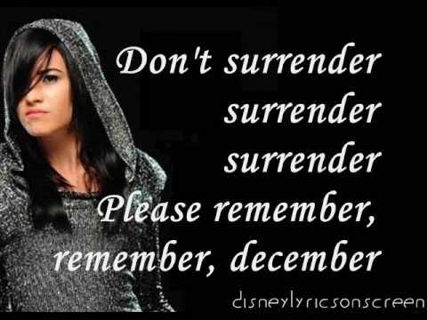 Demi Lovato  Remember December Lyrics On Screen