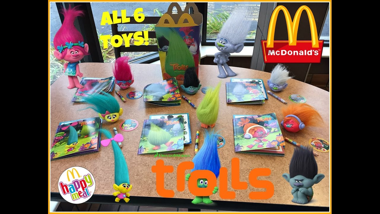 Trolls Movie Mcdonalds Happy Meal Toys November 2016 All